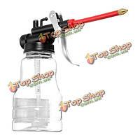 250cc прозрачные инструменты машина масленка бутылки ручной промасливания длинным клювом