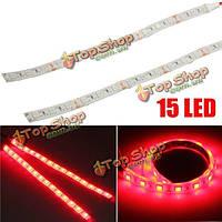 2шт 12v 5050 15 LED красные огни полосы водонепроницаемый для мотоцикла лодки автомобиля