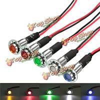 8мм 12v LED панель приборов Индикатор предупреждения свет сигнала лампа 5 цветов