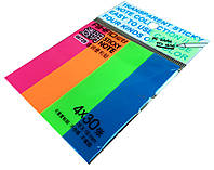 Закладки-стикеры AIHAO (76x19mm / 4 цвета)  закладки с клеевым слоем