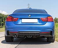 Диффузор заднего бампера обвес BMW F32 стиль M Sport Performance