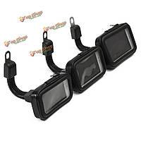 Водонепроницаемый кейс сумка сумка мотоцикла зеркало заднего вида крепление GPS 3.5-5inch телефон