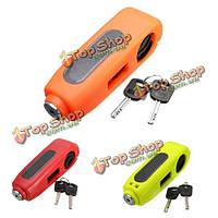 Мотоциклы мотороллеры замок квадроциклы рычаг тормоза безопасности противоугонной с 2-мя ключами, фото 1