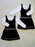 Платье школьное с вышивкой 995, интерлок,  р.р.32-40