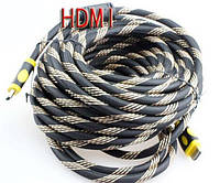 Усиленный кабель Hdmi to Hdmi 20метров 1080p в обмотке