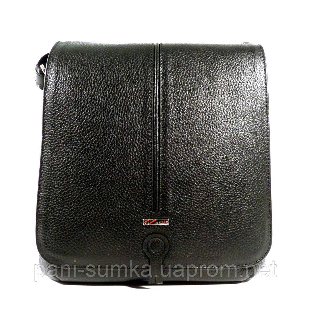 46949211790c Сумка мужская кожаная через плечо, планшет Desisan 342-01 черный, 25 ...