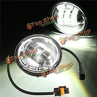 4.5-дюймов 30Вт 6 Cree щепа LED мотоцикл вспомогательный туман фары лампа для Харли