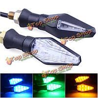 12В LED поворота мотоцикла огни индикаторов синий
