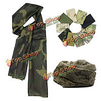 Многоцелевой камуфляжный шарф петли тактические военные обертки скрывает годный для лиц обоего пола шарф