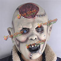 Хэллоуин костюм партии маски пугать взрослых глава ужас головные уборы латексный каучук