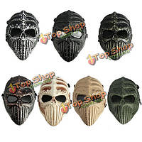 Тактический военно череп скелета полный маска для Хэллоуина Карнавальные маски