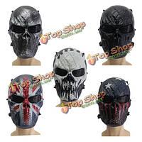 Airsoft взрослых CS игровое поле воин скелет череп пейнтбол маски