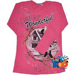 """Детский батник """"Wonderful Mickey Mouse"""" , трикотажный , для девочек от 9-12 лет"""