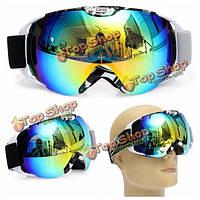 Мотогонок противотуманные очки двойной линзы открытый сноуборд сноуборд очки лыжи