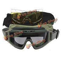 Защитные очки очки с 3 линзами для спортивных мотоциклов в CS