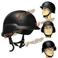 Tactical зубчатые Airsoft Paintball шлем Combat Свате защитная быстрая сила черный
