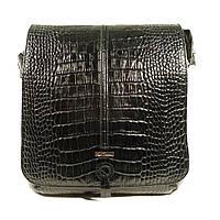 Сумка мужская кожаная через плечо, планшет Desisan 342-11 черный, 25*22*7 см