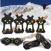 Обувь сапоги противоскользящие безопасности захваты лед утки кошками шип на лыжах езда Открытый