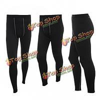 Мужчины сжатия Термобелье слой кожи база длинные брюки колготки брони спортивного снаряжения