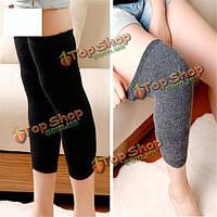 Унисекс мужские женщины кашемир шерсть гетры бедра высокие носки колено накладка