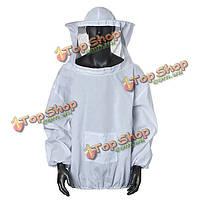 Пчеловодство пиджак вуаль и пчела шляпа платье халат оборудовать защитой