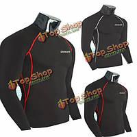 Мужские доспехи сжатия базовый слой тепловой гонки тренажерный зал спортивная рубашка