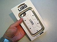 Чехол (бампер) UAG USA для iPhone 5/5S ( + закаленное стекло) White