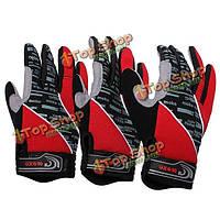 Красный мотоцикл мотоцикл спортивный гель силиконовый полный Finger теплые перчатки