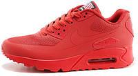 Женские кроссовки Nike Air Max 90 USA Hyperfuse (найк аир макс 90) красные