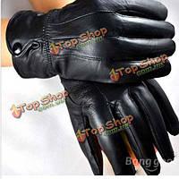 Мужчины дамам мотоцикл езда зимние кожаные перчатки для м