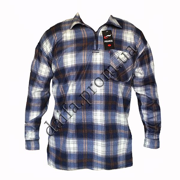 b400585e0296 Мужские теплые рубашки на змейке A6 зима оптом недорого со склада в Одессе  (7км)