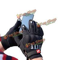 Мотоцикл теплые холодные зимние перчатки зондирования сенсорный экран мобильного телефона