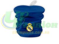 Флисовый горловик-шапка, бафф, гейтор Реал Мадрид синий