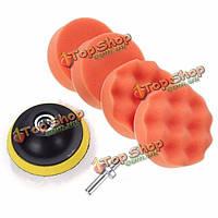 7шт установить 3-дюйма полировка буфер губки площадку буровой адаптер для автомобиля полировщик