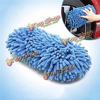 Тироль микрофибры мыть губкой для очистки щетки автомобильные очиститель инструменты 27 * 14 * 6 см