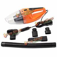 Портативный мини автомобиль автомобиль портативный пылесос влажной и сухой оранжевый 12v 100w