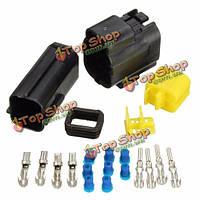 Автомобиль 4-контактный сопротивление воды водонепроницаемый электрический провод кабель штекер комплект