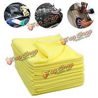 10шт 39x39см микрофибра очистки полотенце автомобиля Windows диван мягкие ткани мыть полотенце тряпка