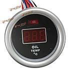 52мм красный цифровой дисплей температуры масла датчик с датчиком температуры фитинга комплект, фото 3