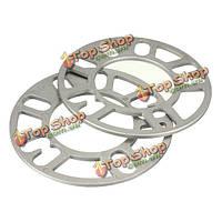 2шт универсальная 5-миллиметровая пластина прокладок распорных деталей колеса алюминия сплава 4 5 подгонок гвоздика