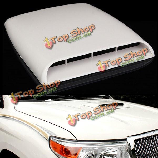 Автомобиль декоративный всасываемого воздуха капот совок отверстие крышки крышки белый универсальный