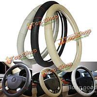 Автомобиль подлинной коровьей кожаный чехол руль в течение 15 дюймов размера колеса