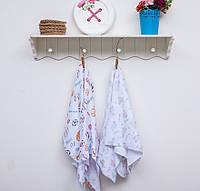 Пелёнки для новорожденных ТМ Фламинго, махра (размер 90х100)