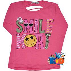 """Детский батник """"Smile"""" , трикотажный , для девочек от 9-12 лет"""