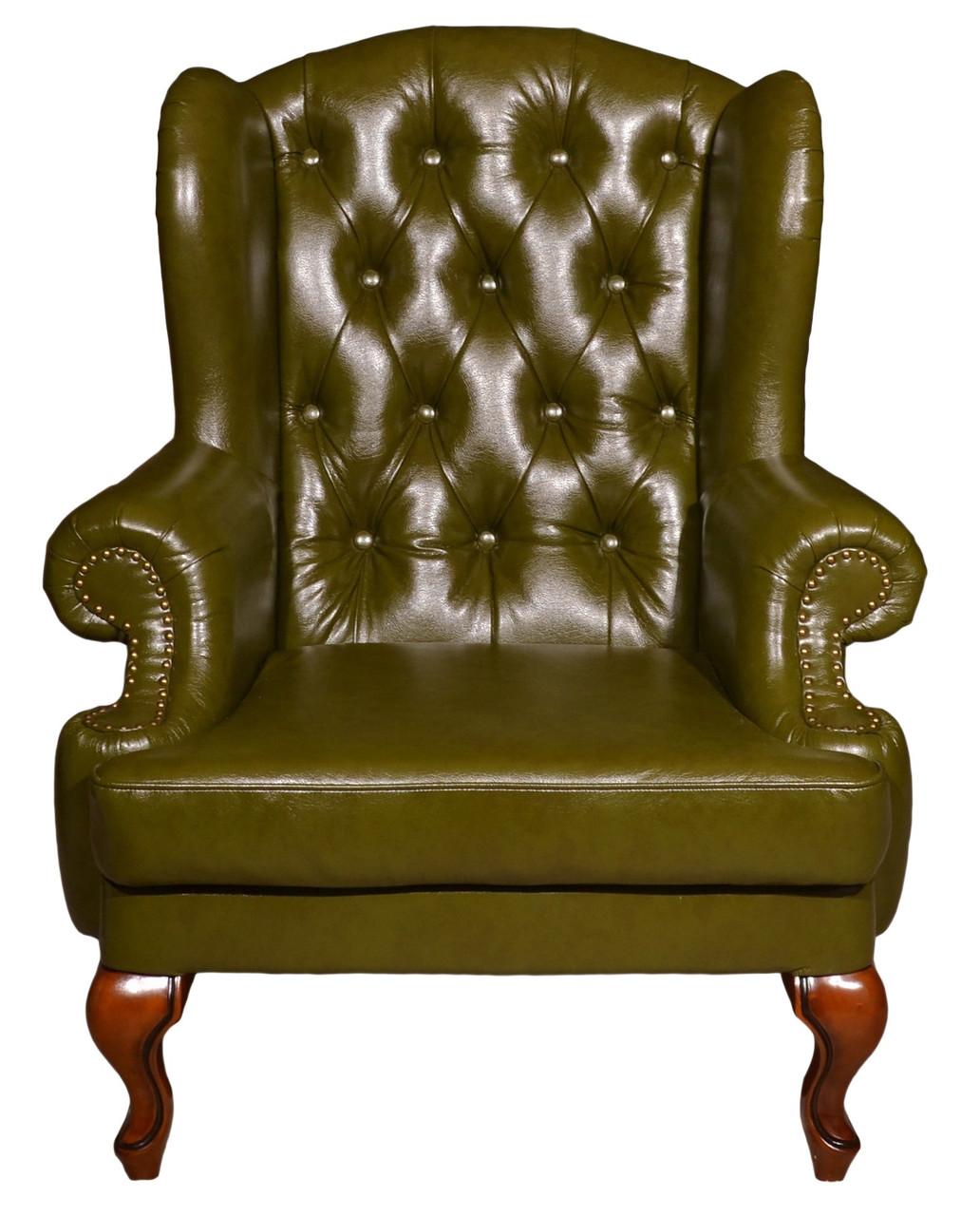 """Оригінальне шкіряне крісло """"Вальтер"""" (115 см)"""