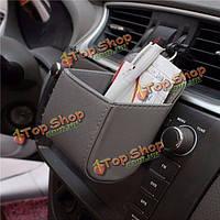 Авто автомобиль телефон карман аксессуары воздуха пу организатор окно автомобиля держатель мешка мусора
