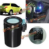 Черный портативный автомобильный LED синий свет пепельница авто путешествия мундштук пепел чашки