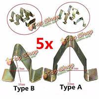 5шт металлические накладки обшивку зажимы для обивки салона VW Audi Skoda Seat