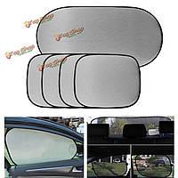 5шт чистая сторона ткань заднего стекла сетчатый экран козырек крышка для автомобиля УФ protectionb