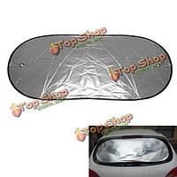 100x50см отражающий автомобиль заднего стекла блок тени солнца алюминиевая пленка теплоизоляция